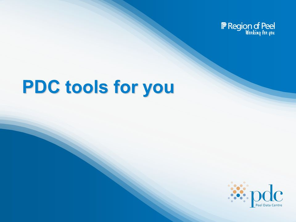 PDC tools for you
