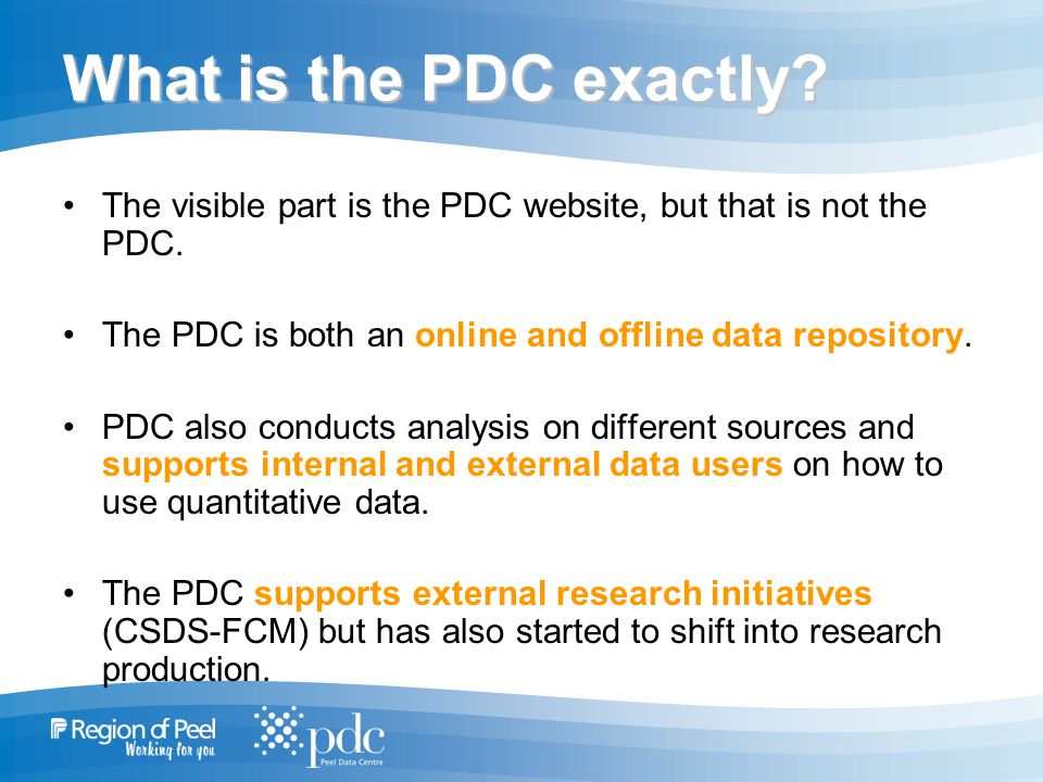 What is the PDC exactly. The visible part is the PDC website, but that is not the PDC.