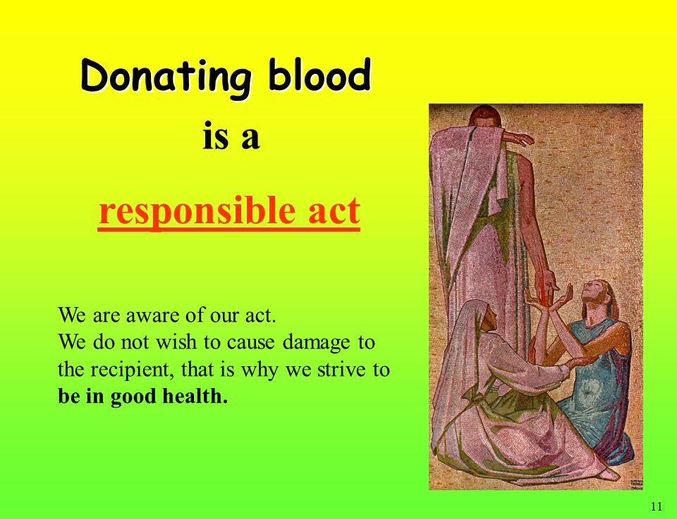 11 responsible act We are aware of our act.