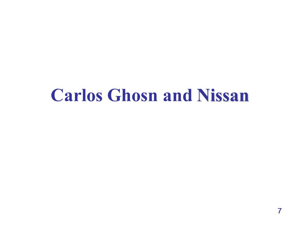 7 Nissan Carlos Ghosn and Nissan
