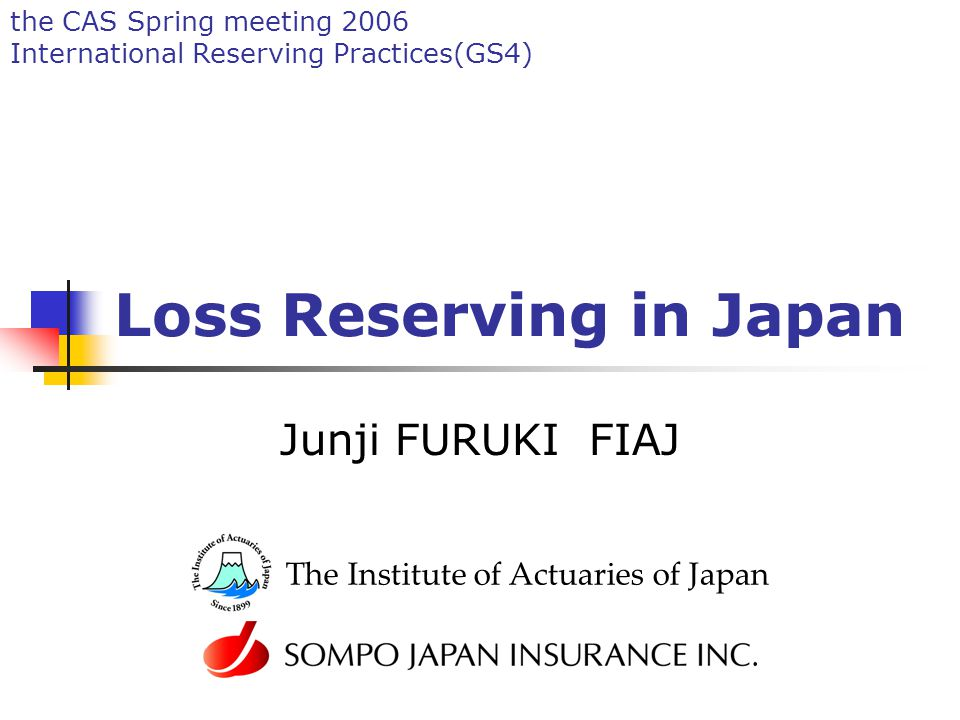 2 Agenda Non-life market in Japan Regulation and Accounting Loss reserving (before revisions) Loss reserving (after revisions) Role of Actuaries