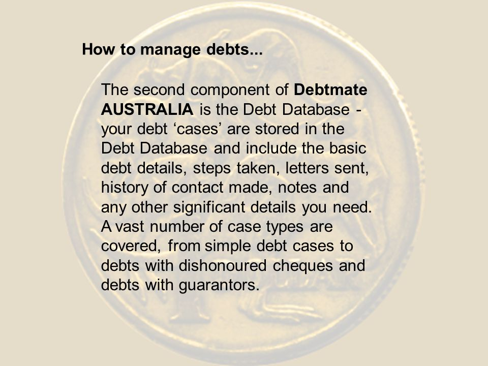 How to manage debts...