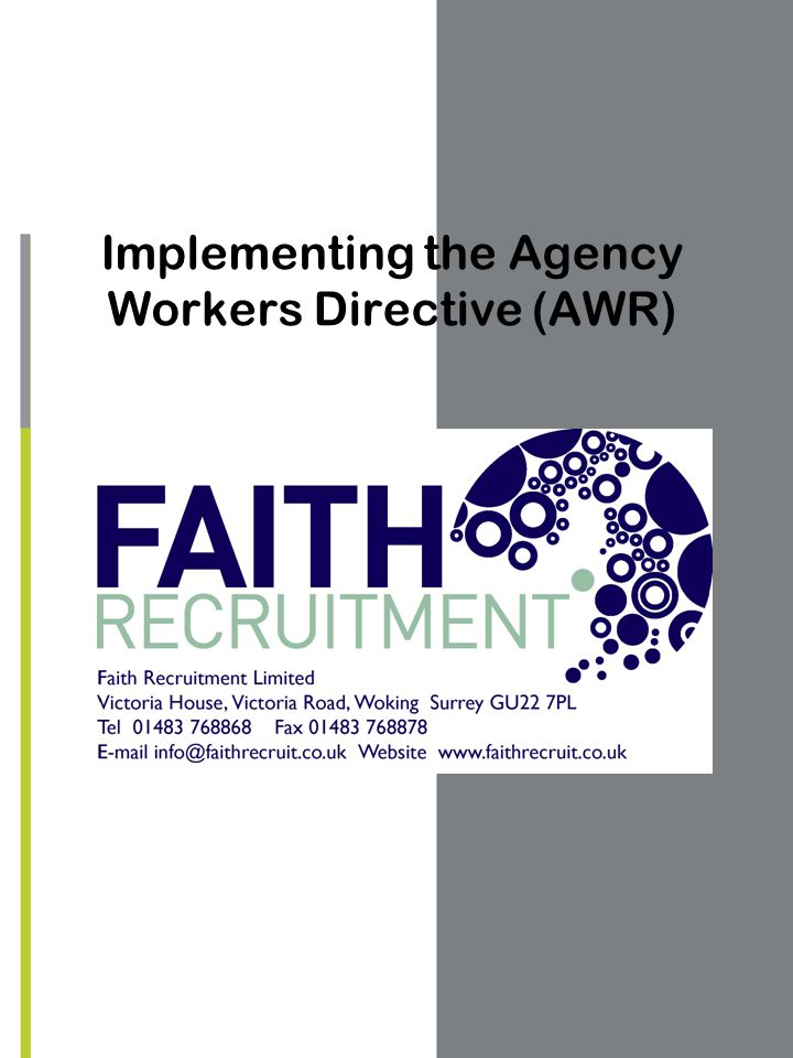 Implementing the Agency Workers Directive (AWR)