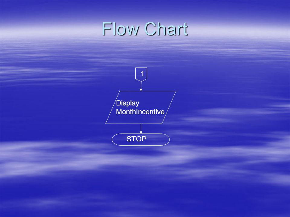 Flow Chart Display MonthIncentive STOP 1