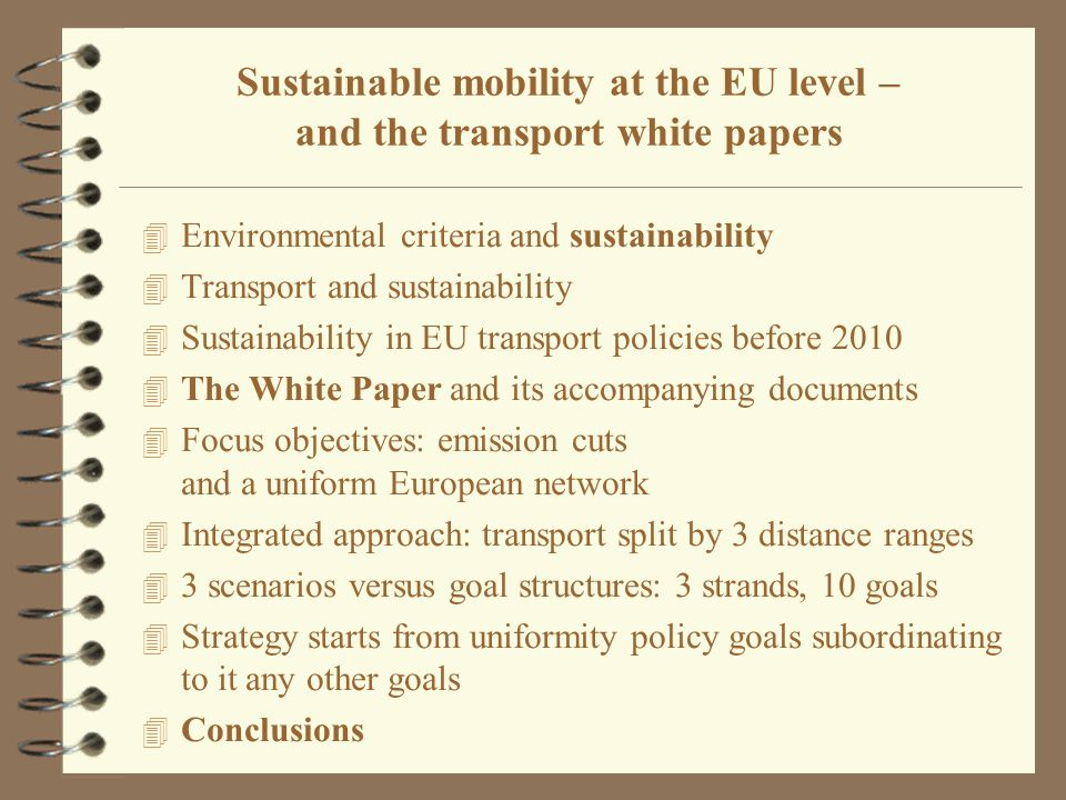 """4 Before 1992 –no integrated transport policy at EU level, specific sub-sector level targets (vessel capacity annulation, rest time, flight security etc.) motivation was rather the competition policy balancing 4 EU CTP 1992 """"Single network to a single market –Main targets harmonisation of regulation and creating a common network –Integrated transport policy – but to one single level international links, overlapping networks –Inter-modality, interoperability, free access, corridor, TEN-T single market –The role of the environment is not central Common Transport Policy (CTP) 1992"""