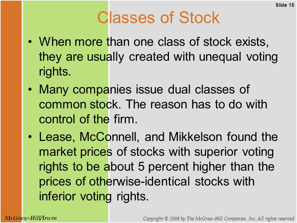 Slide 15 Copyright © 2008 by The McGraw-Hill Companies, Inc.