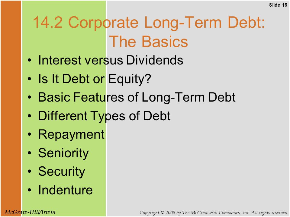 Slide 16 Copyright © 2008 by The McGraw-Hill Companies, Inc.