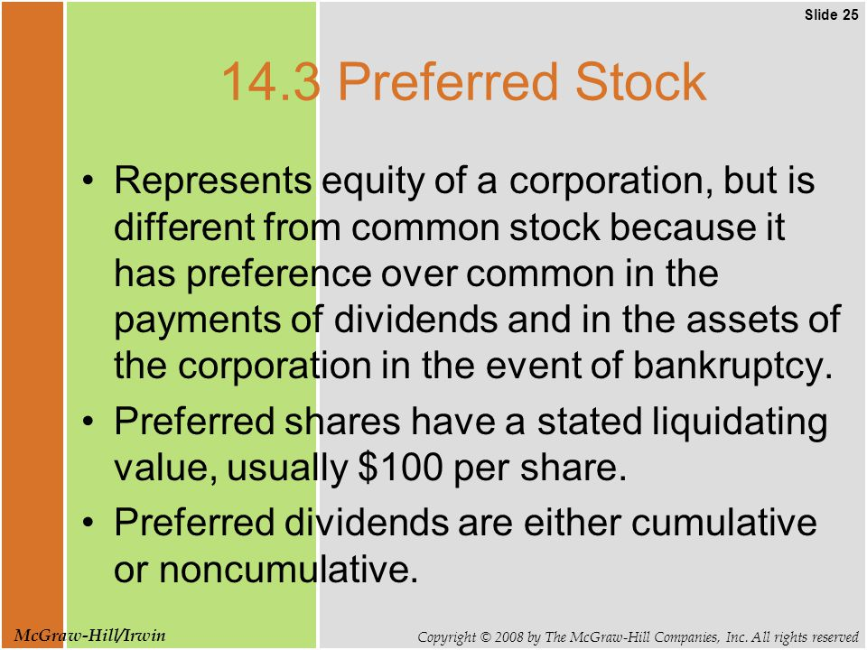 Slide 25 Copyright © 2008 by The McGraw-Hill Companies, Inc.