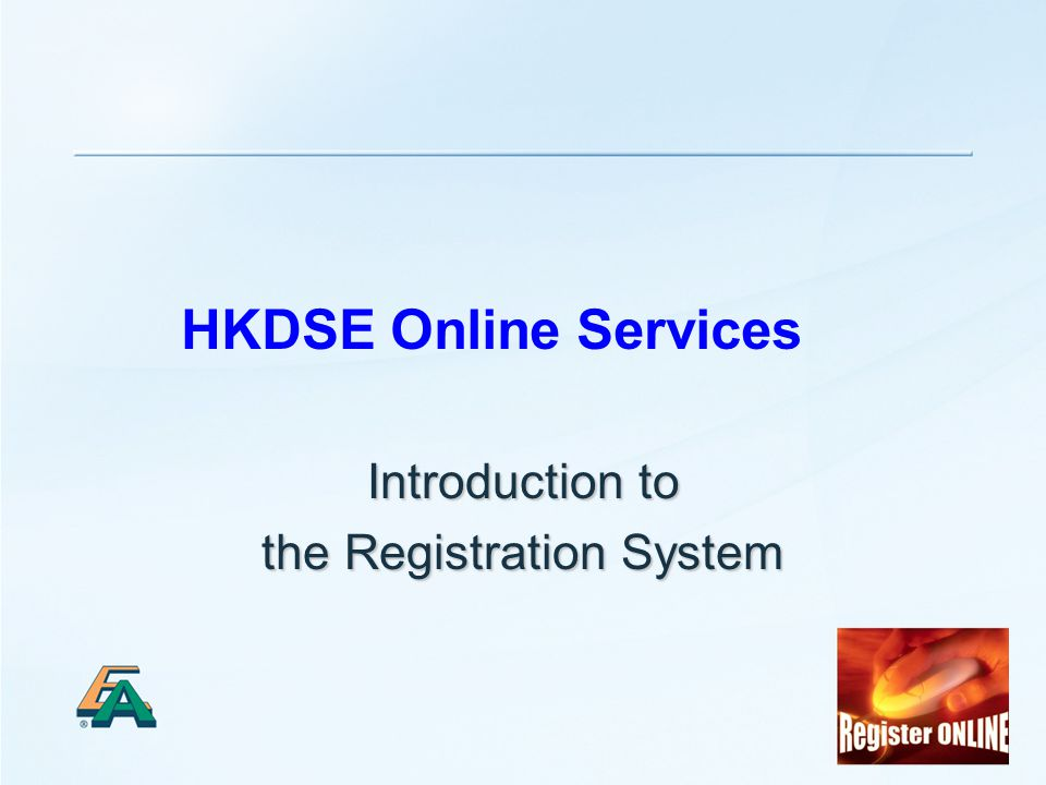 1 HKDSE Online Services Introduction to the Registration System