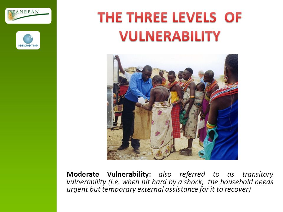 Moderate Vulnerability: also referred to as transitory vulnerability (i.e.
