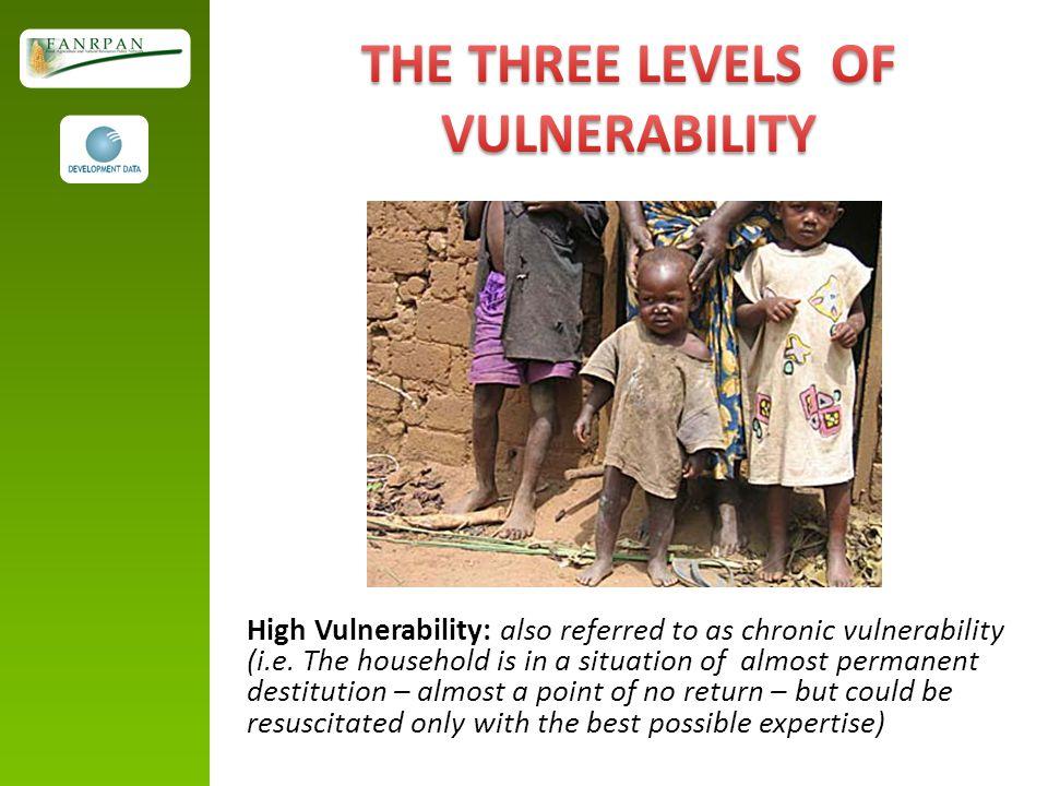 High Vulnerability: also referred to as chronic vulnerability (i.e.