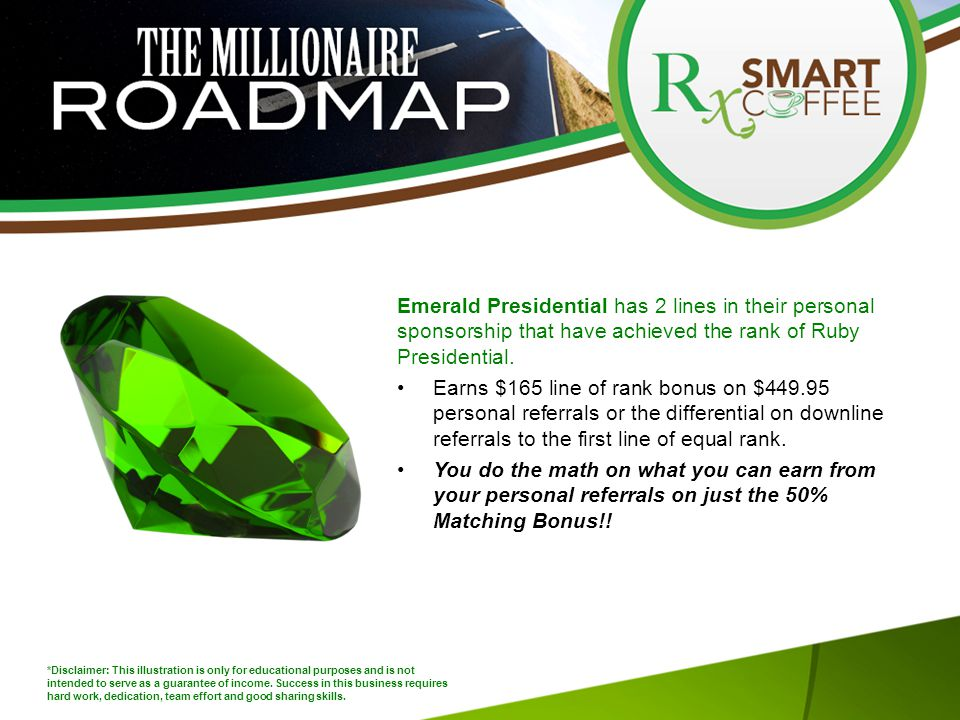 Emerald Presidential has 2 lines in their personal sponsorship that have achieved the rank of Ruby Presidential.