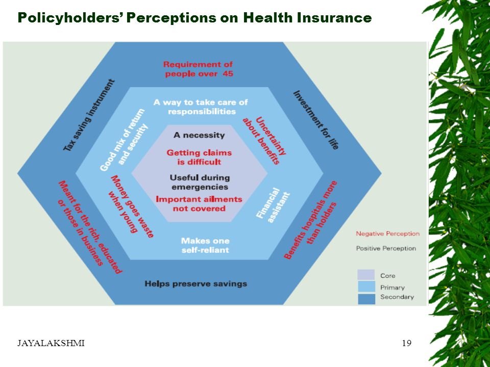 Policyholders' Perceptions on Health Insurance JAYALAKSHMI19