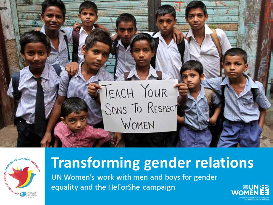 In 2014 UN Women had programmes addressing the role of men and boys in over 60 countries.