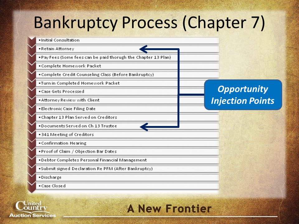 Bankruptcy Process (Chapter 7) Opportunity Injection Points