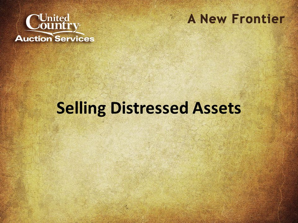 Selling Distressed Assets