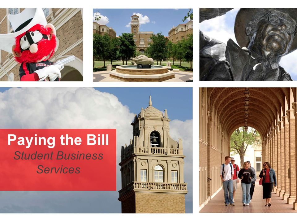 Paying the Bill Student Business Services
