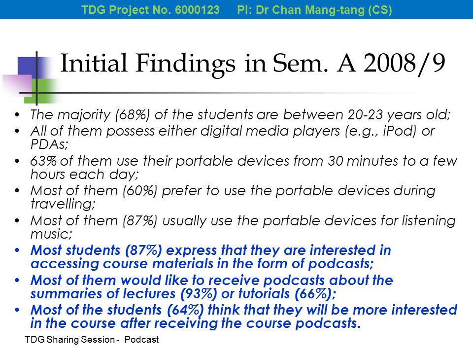 Initial Findings in Sem.