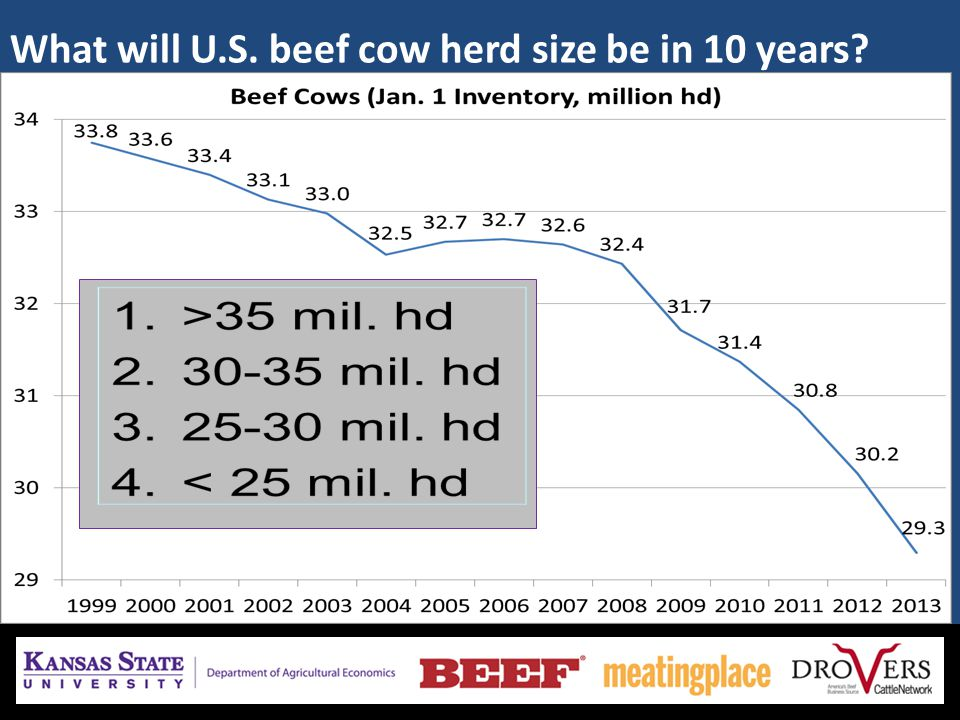 What will U.S. beef cow herd size be in 10 years