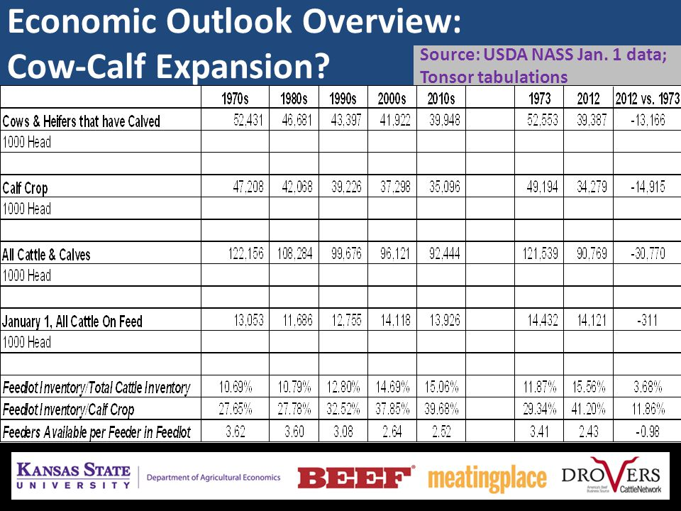 Economic Outlook Overview : Beef Demand Demand less certain than supply currently  heightened need to monitor… Meat prices rising w/i basket of purchases… – as prices increase, public will require more quality… quality and value are in the eye of the beholder...
