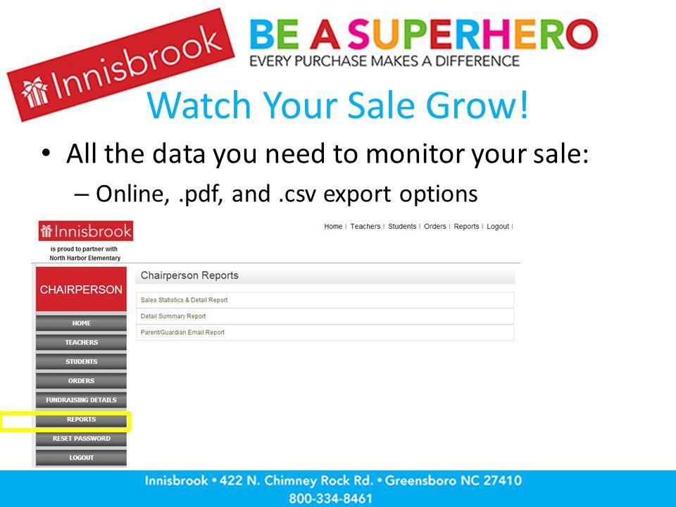 Watch Your Sale Grow.