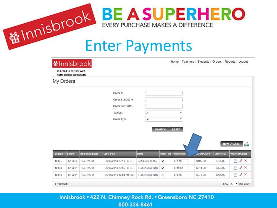 Enter Payments
