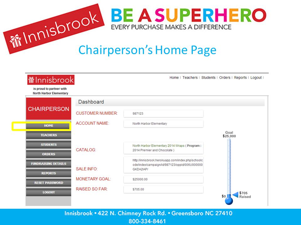 Chairperson's Home Page