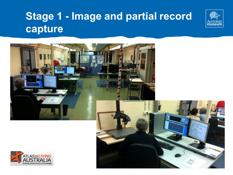 Stage 1 - Image and partial record capture