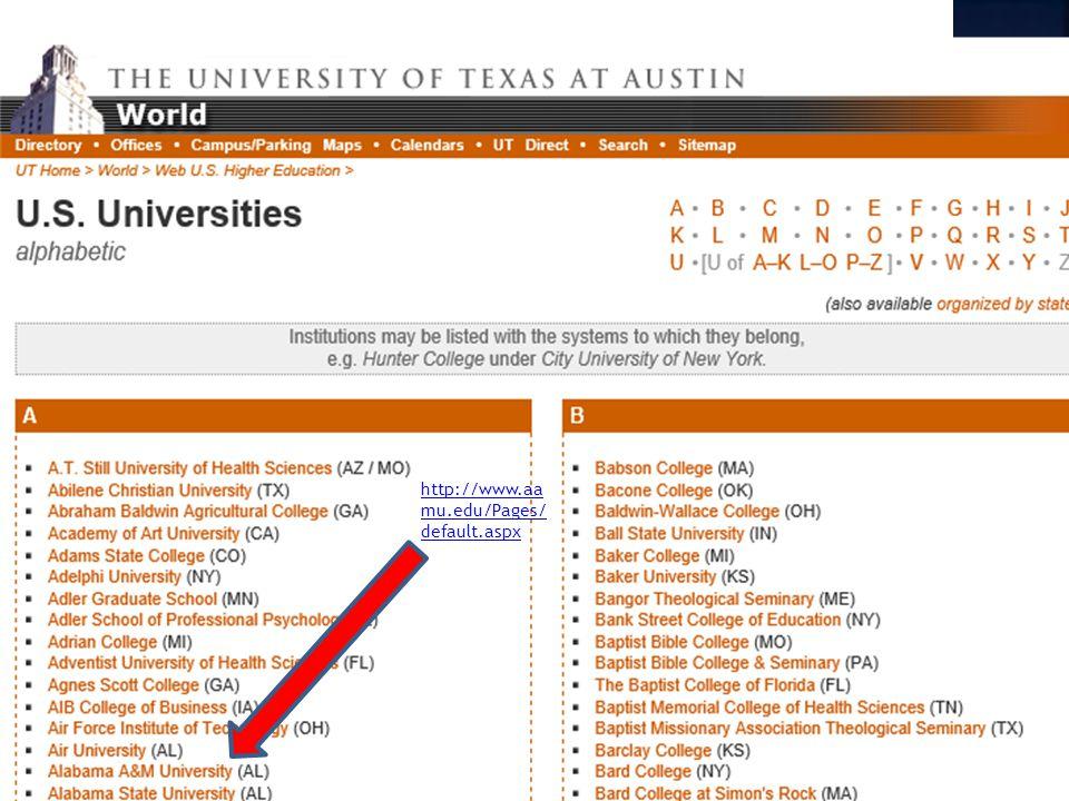 http://www.aa mu.edu/Pages/ default.aspx