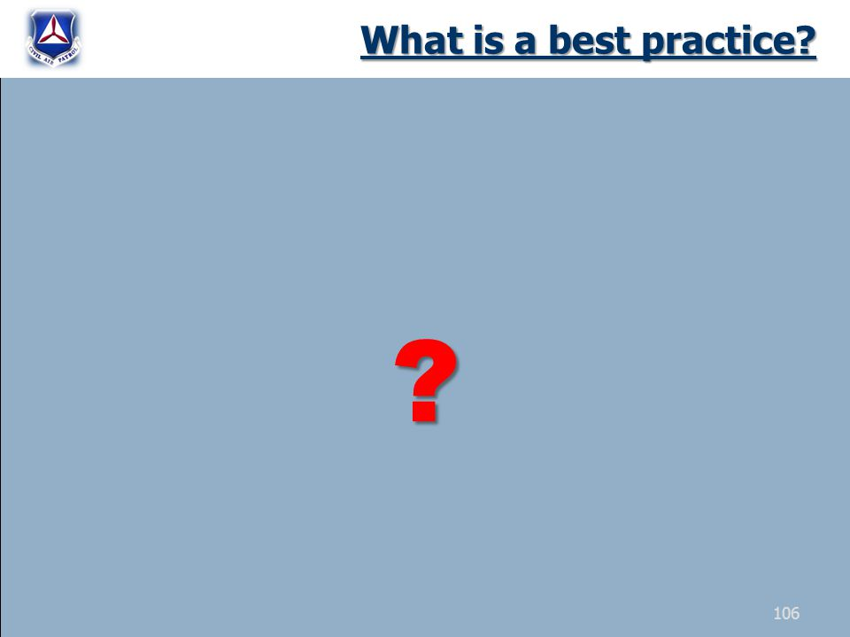 What is a best practice 106
