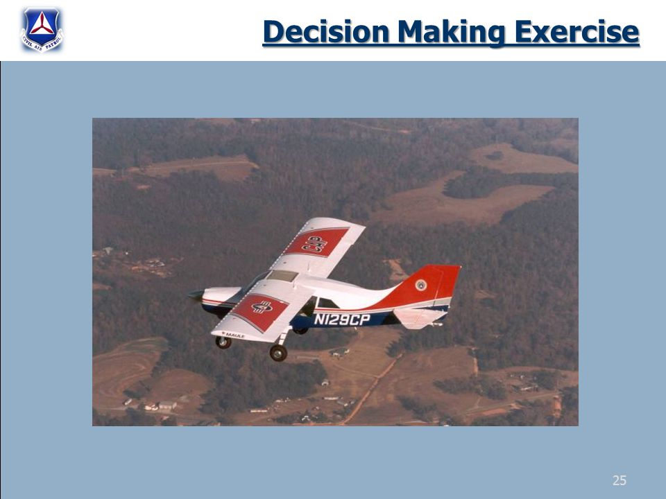 Decision Making Exercise 25