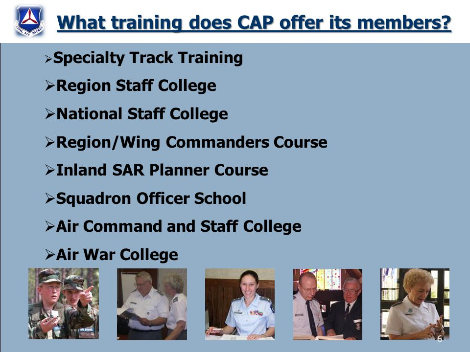 What training does CAP offer its members.