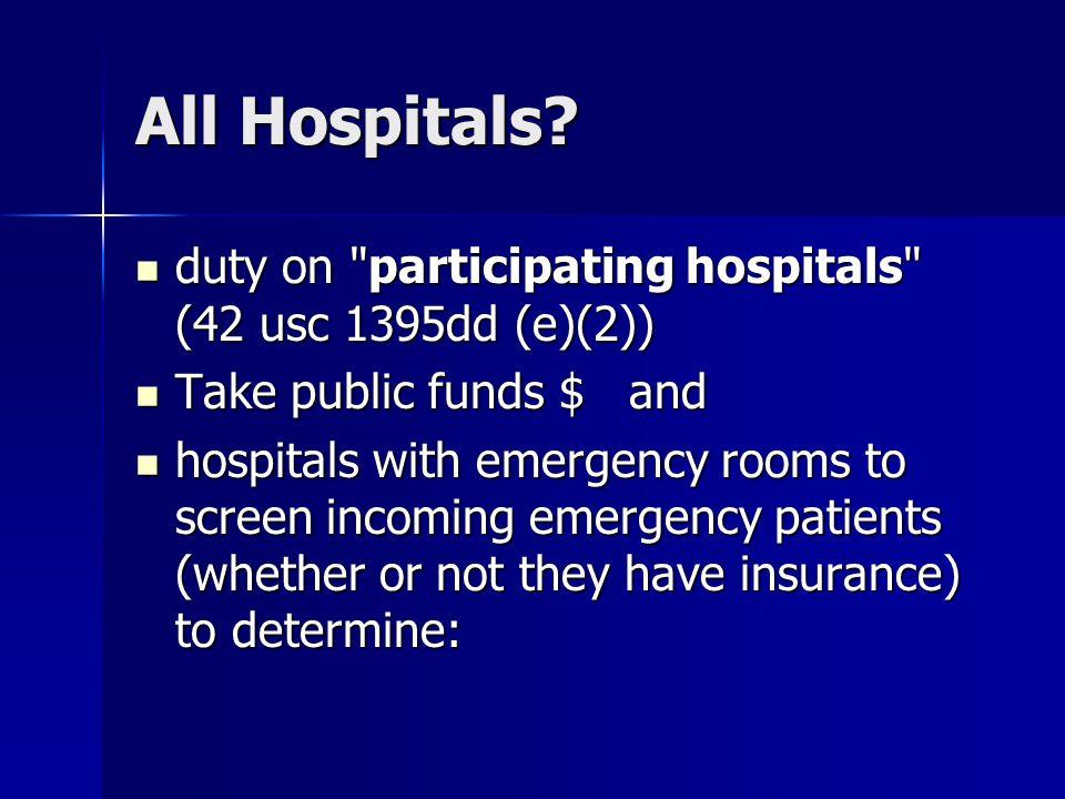 All Hospitals.