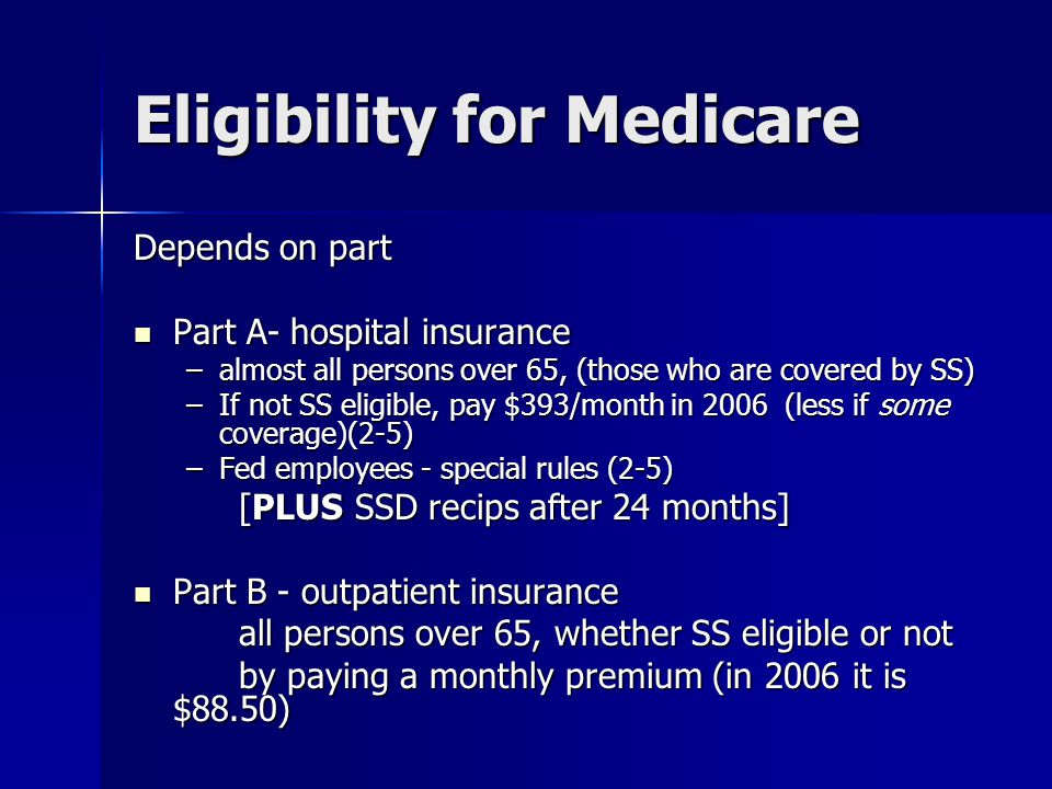 2007 Medicare Changes: The Part B premium will be linked to income for the first time, starting in 2007.