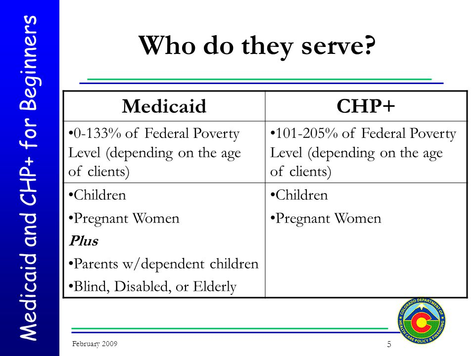 Medicaid and CHP+ for Beginners February 2009 26 How is eligibility for CHP+ determined.