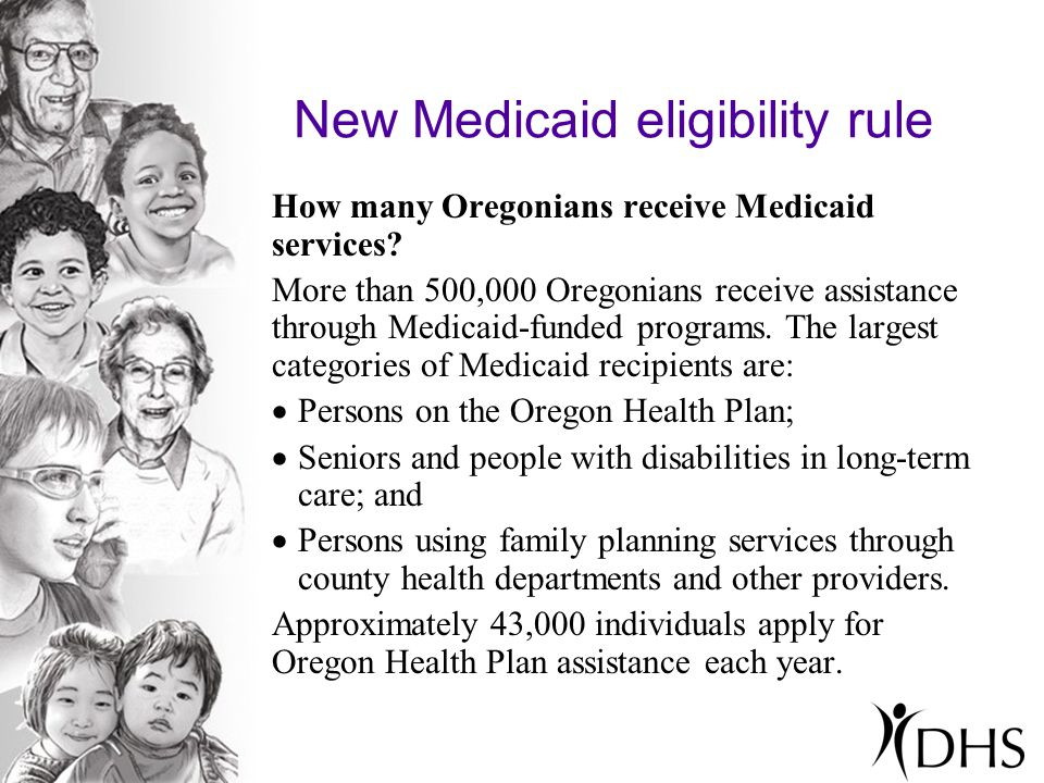 How many Oregonians receive Medicaid services.