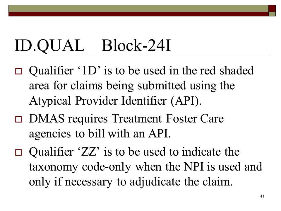 H. Block 24H: EPSDT/Family Plan 1 EPSDT Family Plan 1-EPSDT 40