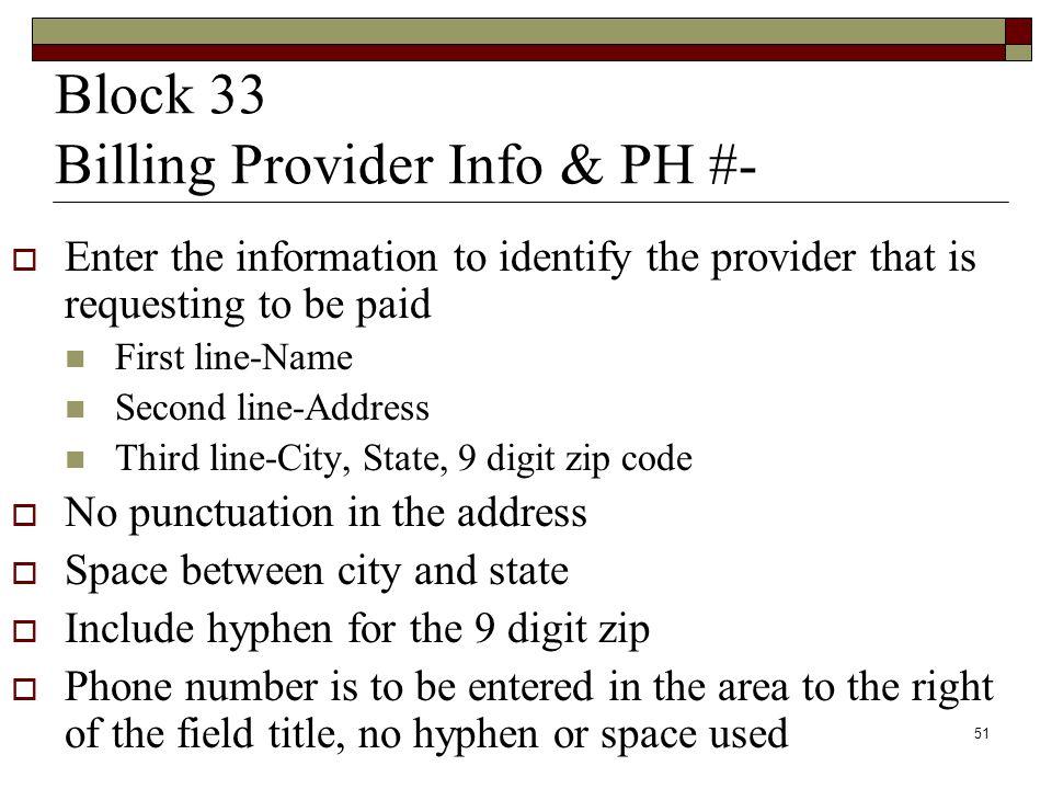 Block 32: Service Facility Location Information 32.
