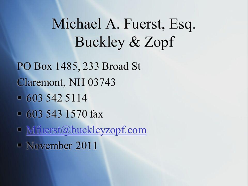 Michael A. Fuerst, Esq.