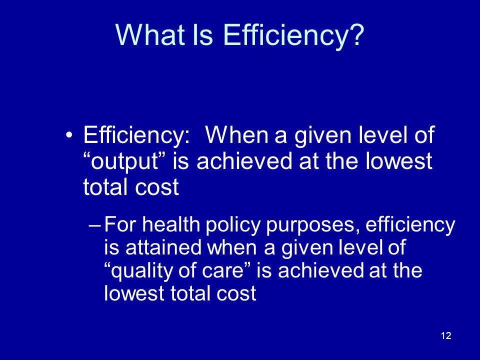 12 What Is Efficiency.
