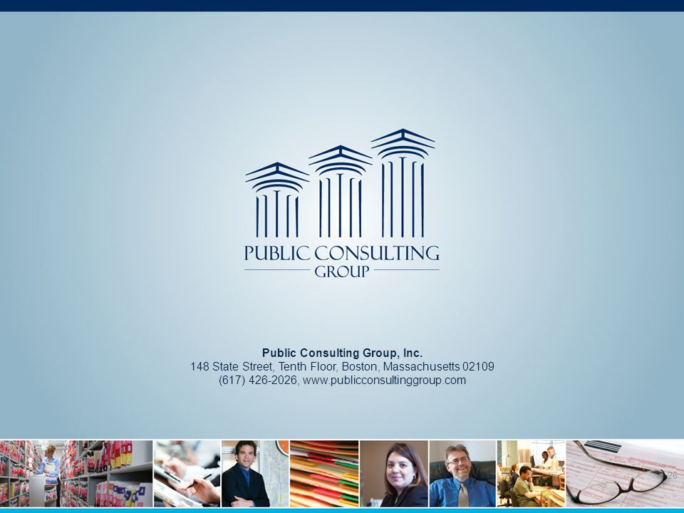 26 Public Consulting Group, Inc.