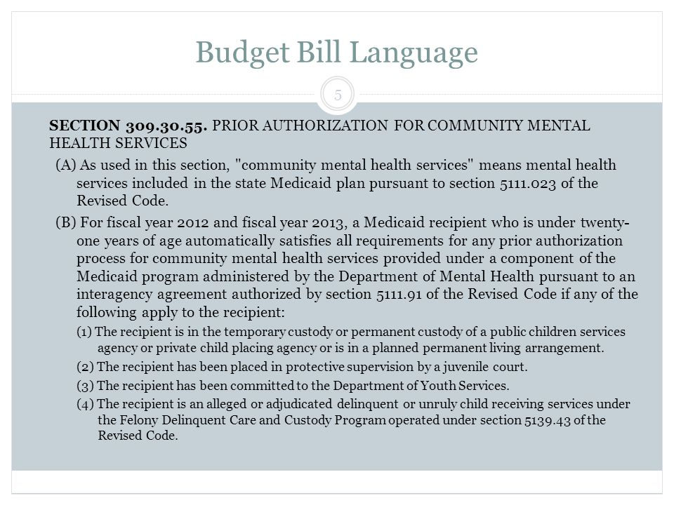 Mental Health Medicaid Benefits Misc.