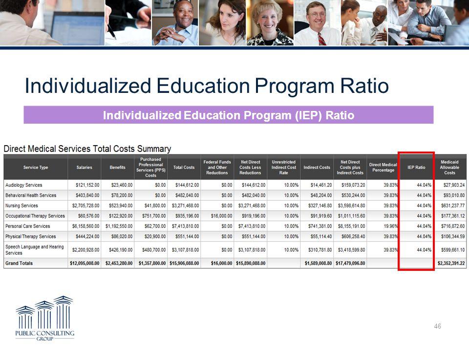 Individualized Education Program Ratio 46 Individualized Education Program (IEP) Ratio