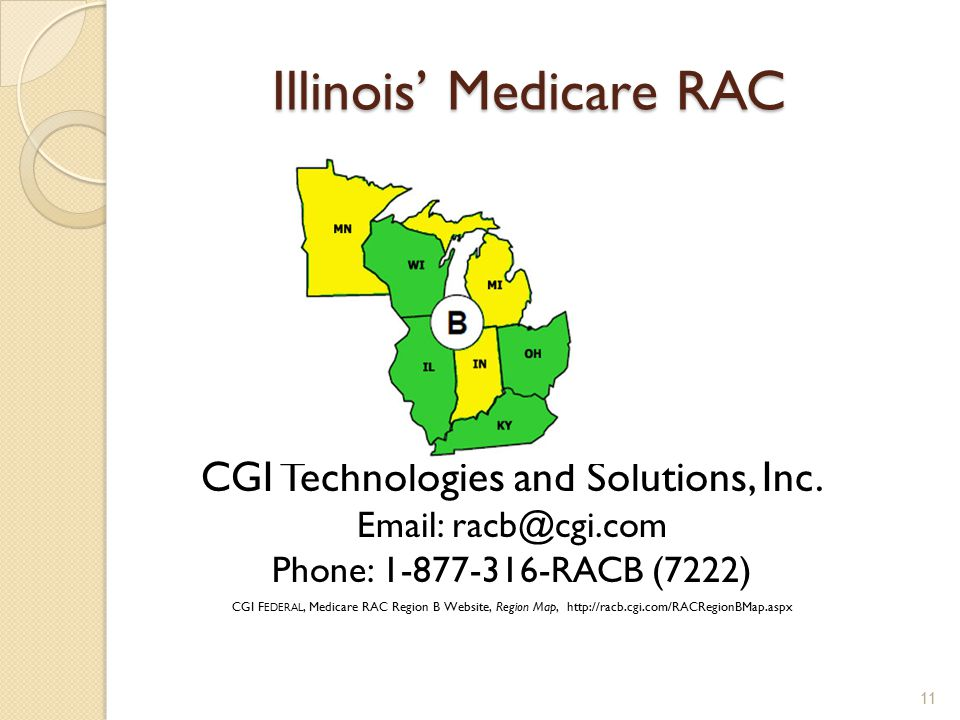 Illinois' Medicare RAC CGI Technologies and Solutions, Inc.