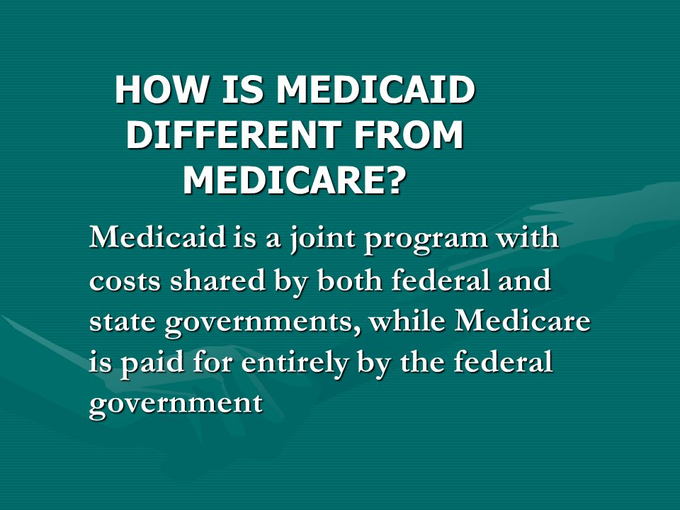 Medicaid Funding Currently, the federal government will pick up more than 50% of the cost, but not more than 75%.
