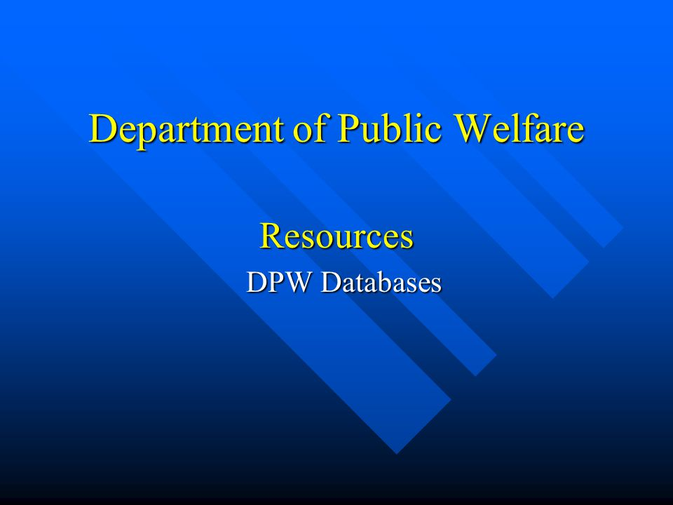 Research Access Department of Public Welfare Office of Medical Assistance Programs