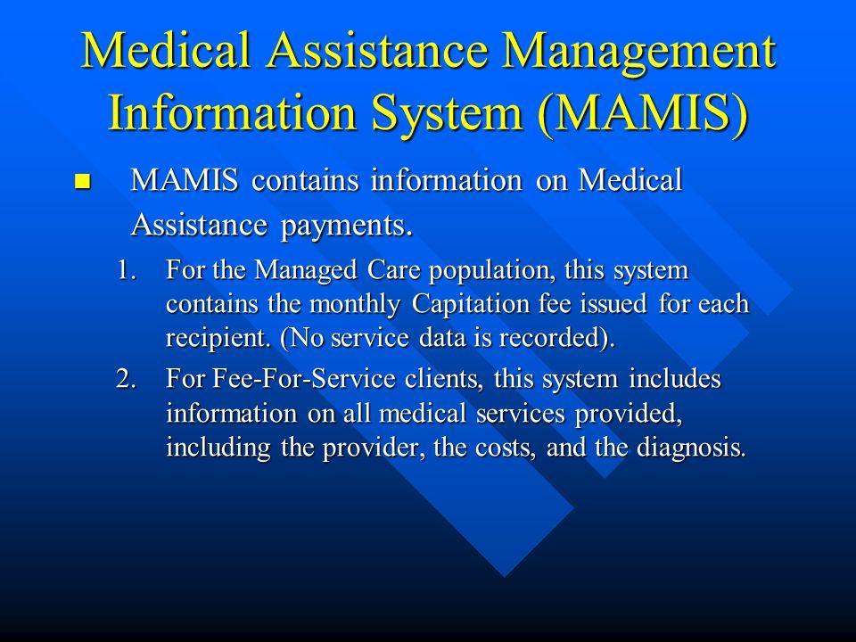 Client Information System (CIS) Cont.