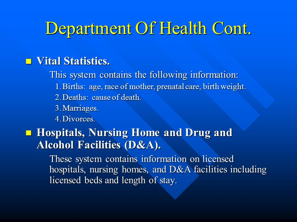 Department Of Health Drug and Alcohol. Drug and Alcohol.