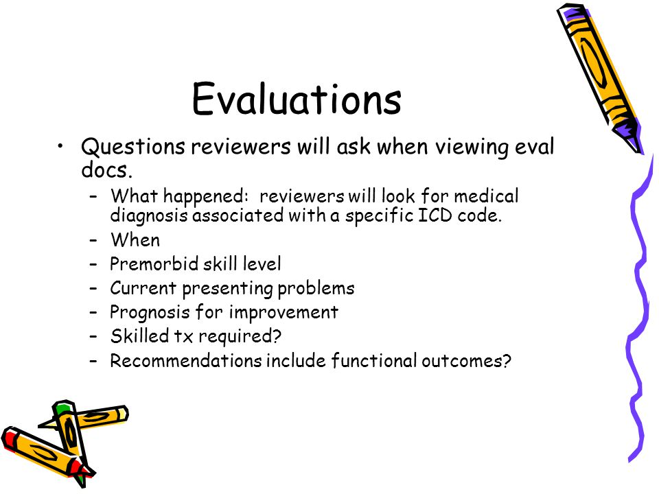 Evaluations Questions reviewers will ask when viewing eval docs.