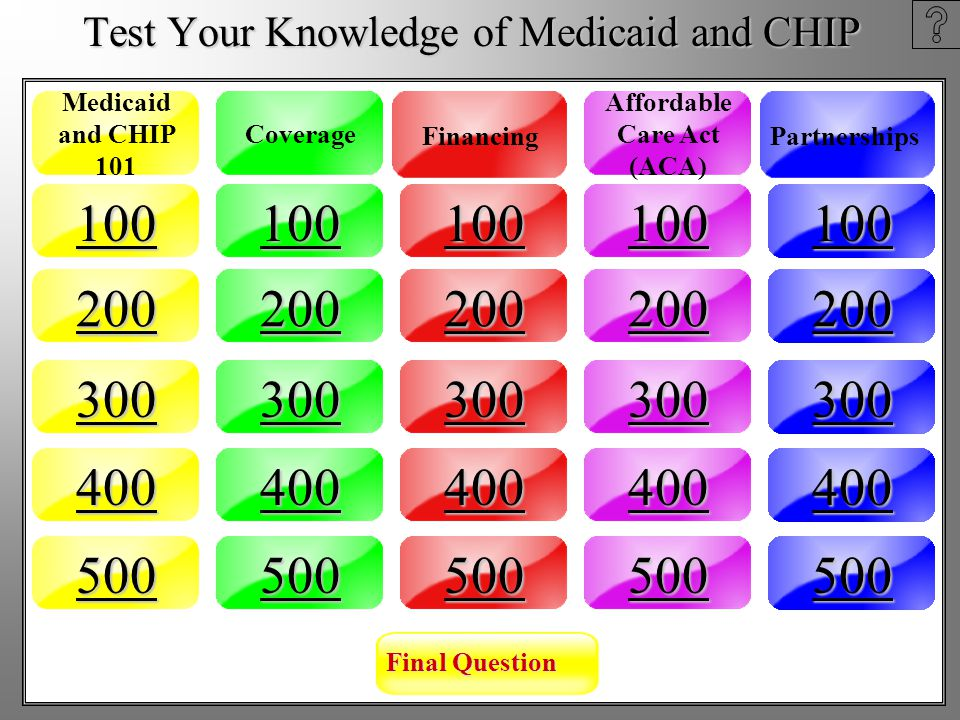 AnswerQuestion Affordable Care Act (ACA) - 500 Question: The opportunity for Medicaid programs to develop health homes for people with chronic conditions in the Affordable Care Act is funded with: a.